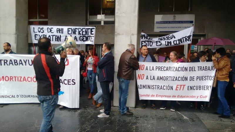 Conflicto laboral del personal no docente de la Consejería de Educación en Asturias